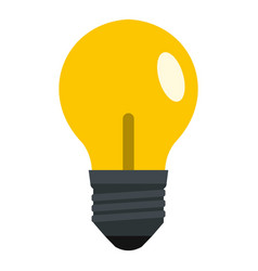 Yellow light bulb icon isolated vector
