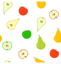 apple and pear seamless vector image
