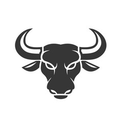 bull face logo business icon on a white vector image