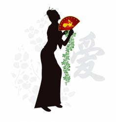 china love vector image vector image