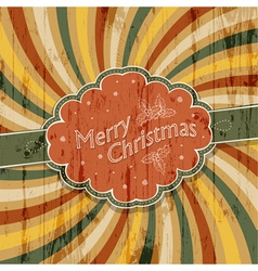 colorful rays xmas card vector image vector image