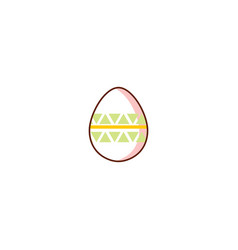 flat easter decorated chicken egg vector image vector image