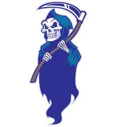 grim reaper mascot vector image vector image