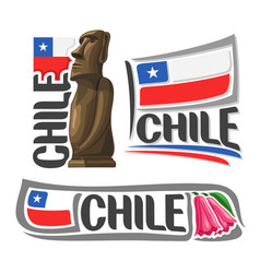 logo for chile vector image vector image