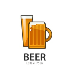 Original badge logo design icon template for beer vector image vector image