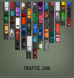 traffic jam concept vector image