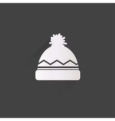 Winter snowboard cap icon vector image