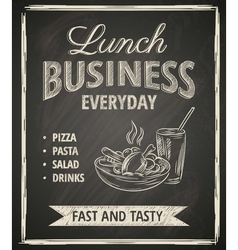 Business lunch poster vector image