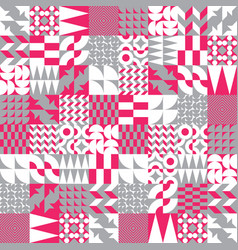 geometric tiles linear seamless pattern vector image vector image