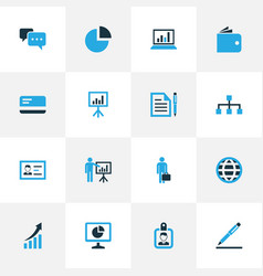 Job colorful icons set collection of vector