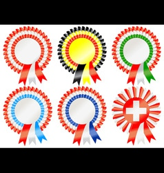 rosettes to represent european countries including vector image vector image