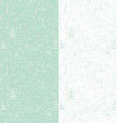 Seamless pattern with marine objects vector image vector image