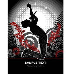 Star singer web and print template vector image