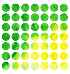 watercolor set of circles vector image vector image