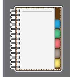 Blank Paper with Notebook outline vector image