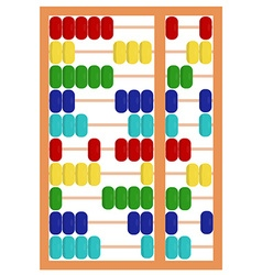 Colorful abacus toy vector image vector image