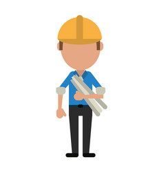 engineer construction or factory worker icon image vector image
