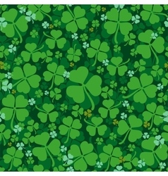 Green leaves clover seamless pattern Lucky Clover vector image