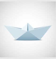 icon paper boat on a white background stock vector image