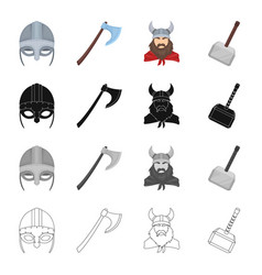 norway history museum and other web icon in vector image vector image