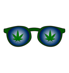 rastaman sunglasses with the reflection of vector image