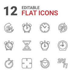 12 hour icons vector
