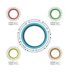 492modern circle infographic vector image