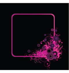 Abstract floral frame with circles vector