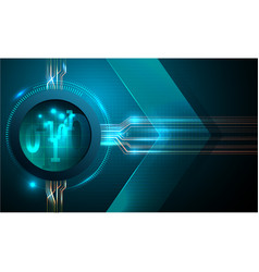 Abstract futuristic fade computer technology busin vector