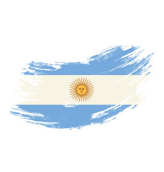 argentinean flag grunge brush background vector image