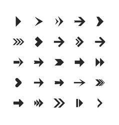arrows set arrow icons down direction up pointer vector image
