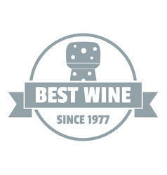 best wine logo simple gray style vector image