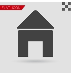 Black Home open door icon vector image
