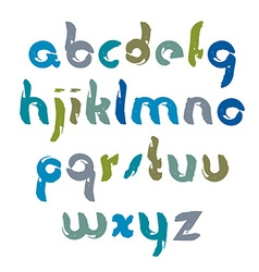 Bright unusual font handwritten watercolor vector