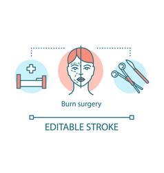 Burn surgery concept icon vector