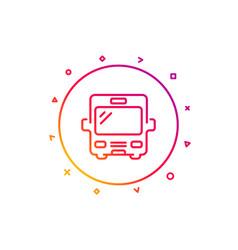 bus transport line icon transportation vehicle vector image