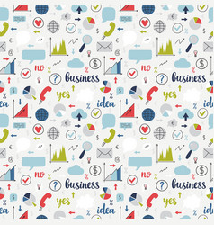 business seamless pattern set of icons for vector image
