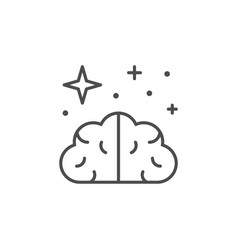 Clear mind line outline icon vector