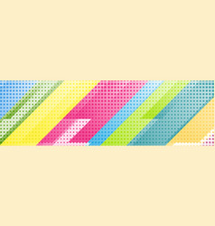 colorful geometric tech abstract banner design vector image