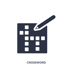 Crossword icon on white background simple element vector