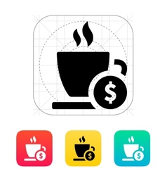 Cup price icon vector
