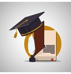 Education design learning icon isolated vector image