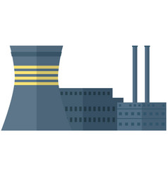Energy production factory manufactory building vector