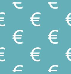 euro symbol pattern seamless blue vector image