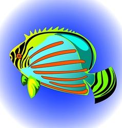 Exotic fish vector