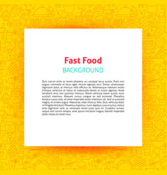 fast food paper template vector image