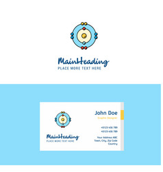 flat atoms logo and visiting card template vector image