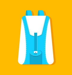 flat schoolbag on the background with the slogan vector image