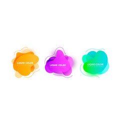 fluid colorful bubbles abstract background vector image