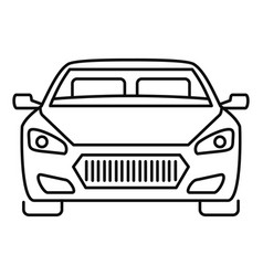 Front modern car icon outline style vector